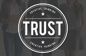 Trust Dependable Reliable Truthful Trustworthy Concept poster