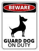 Danger Dog Signs Humorous Comic Labels and Plates Collection. Vector EPS8 set poster
