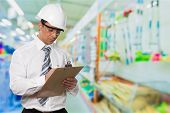 Inspector Clipboard Safety Construction Isolated Manager Quality Control poster