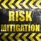 Risk mitigation sign poster