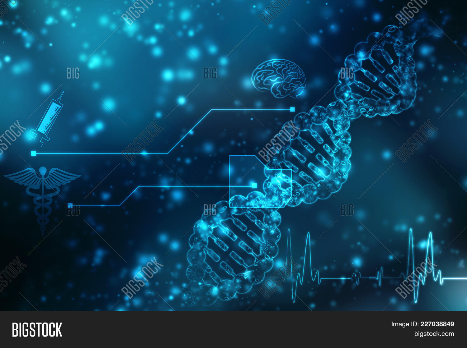 Render of dna powerpoint template PowerPoint Template - Render of ...