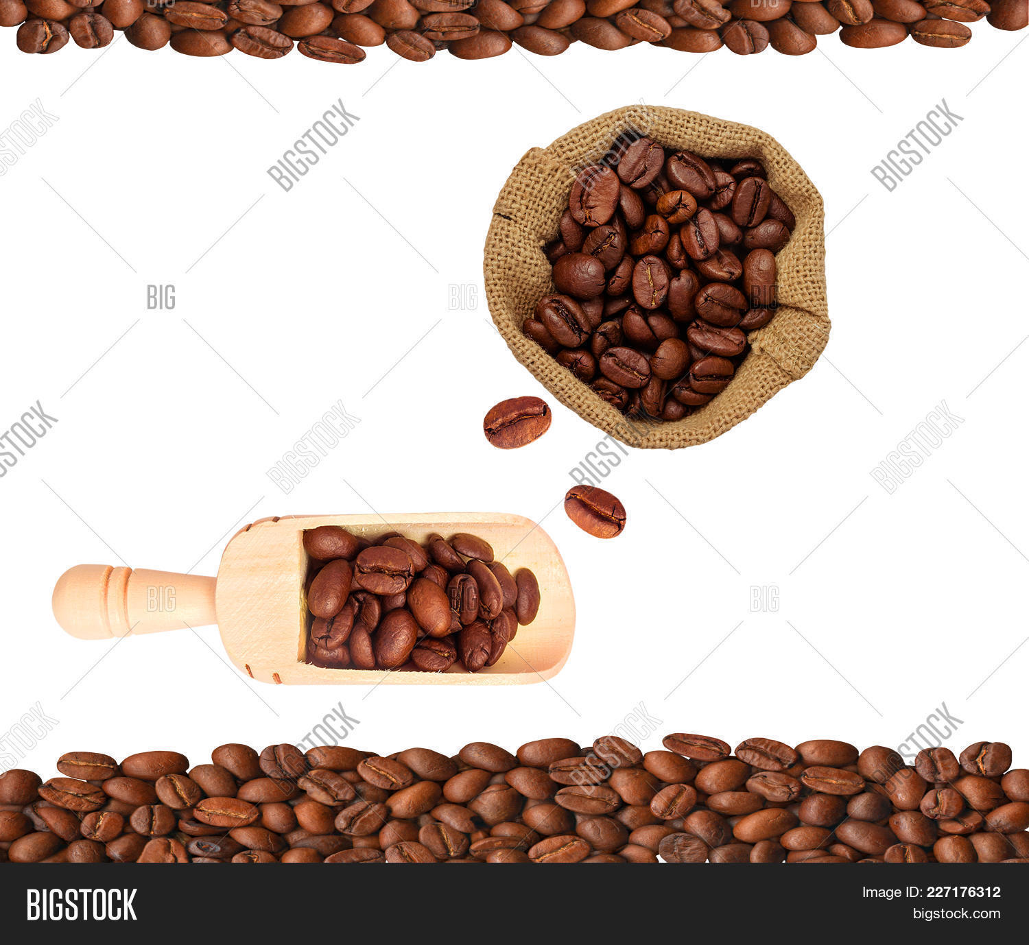 Traditional coffee bean on white PowerPoint Template - Traditional ...