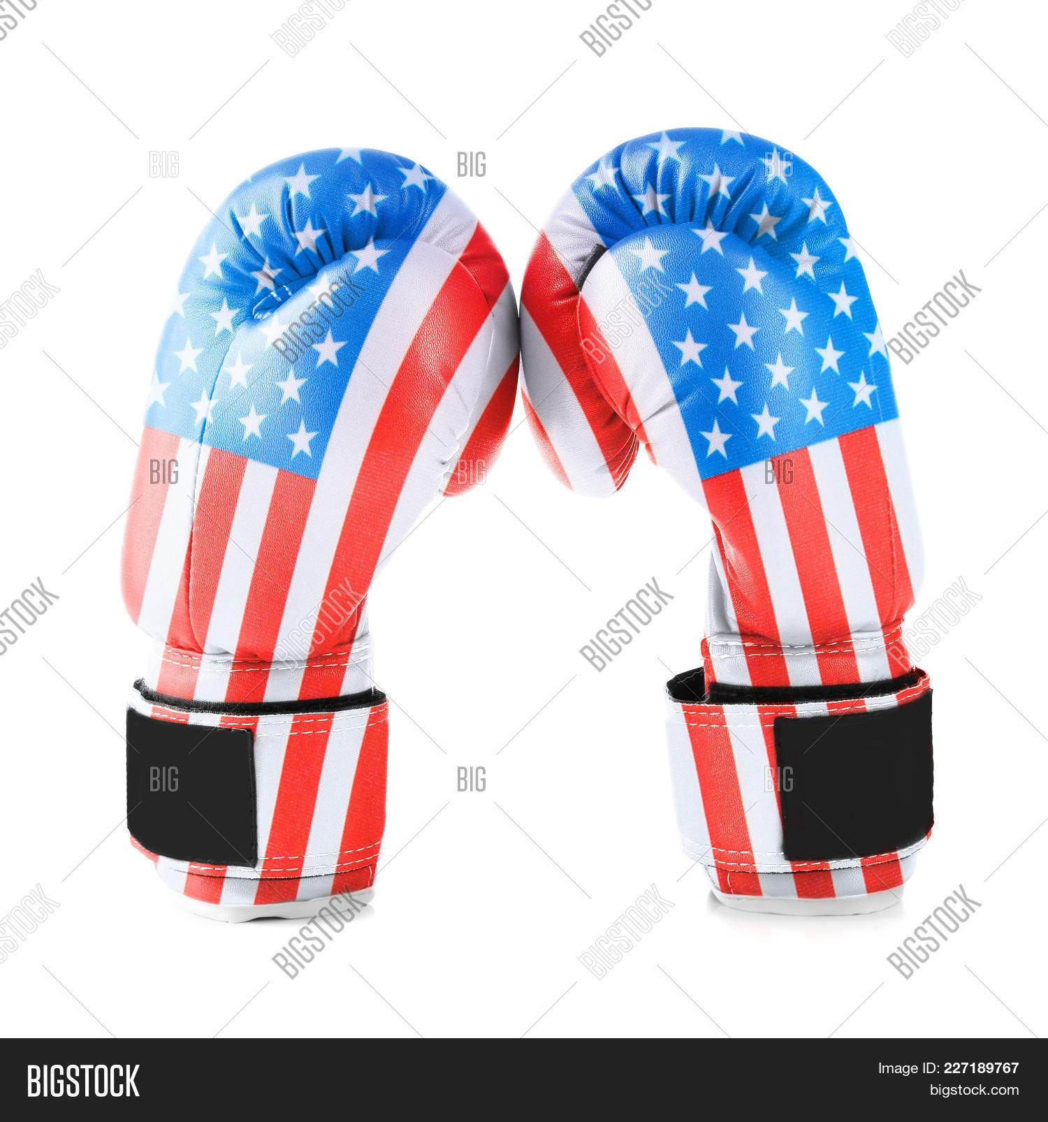 independence boxing gloves colored powerpoint template