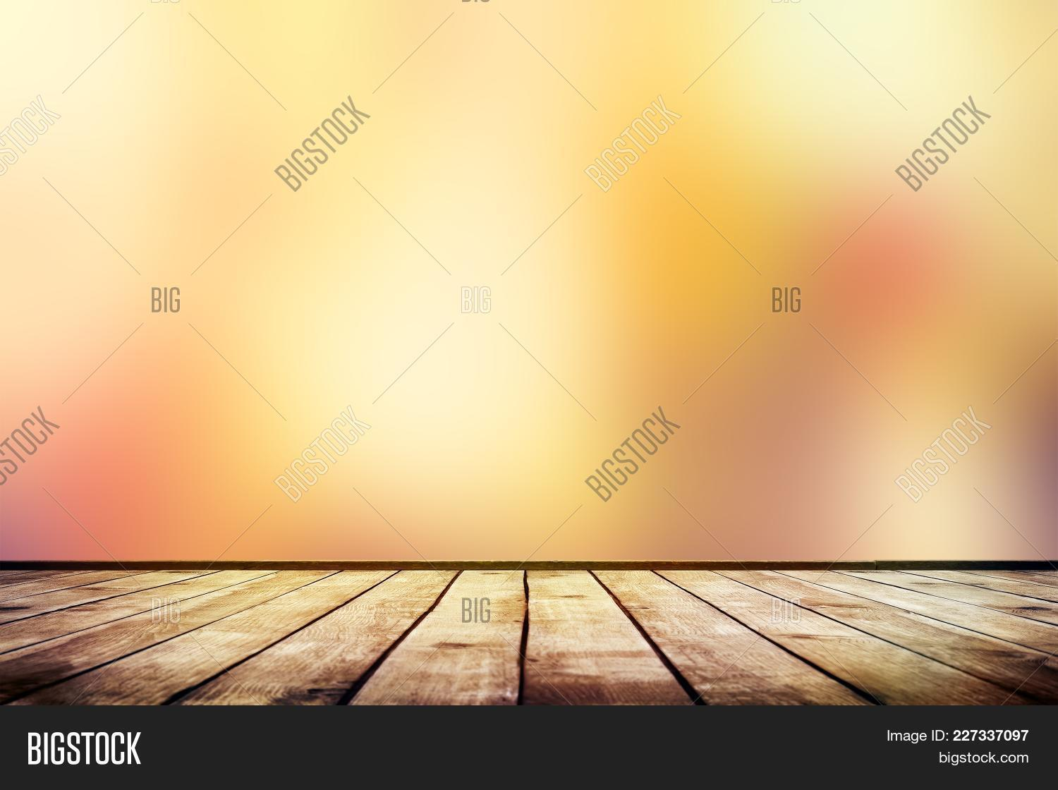 table empty wooden blurred autumn powerpoint template table empty