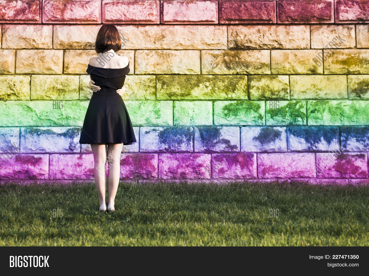 young girl from the lgbt powerpoint template young girl from the