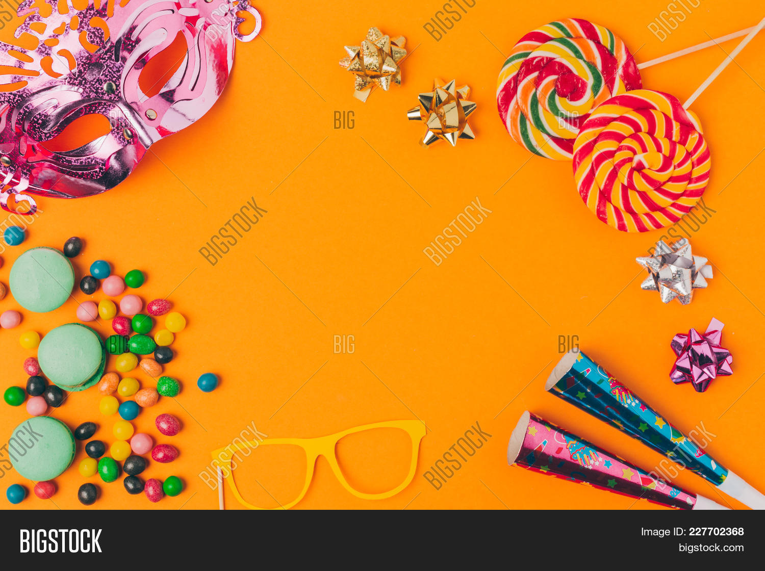 Flat Lay With Candies PowerPoint Template