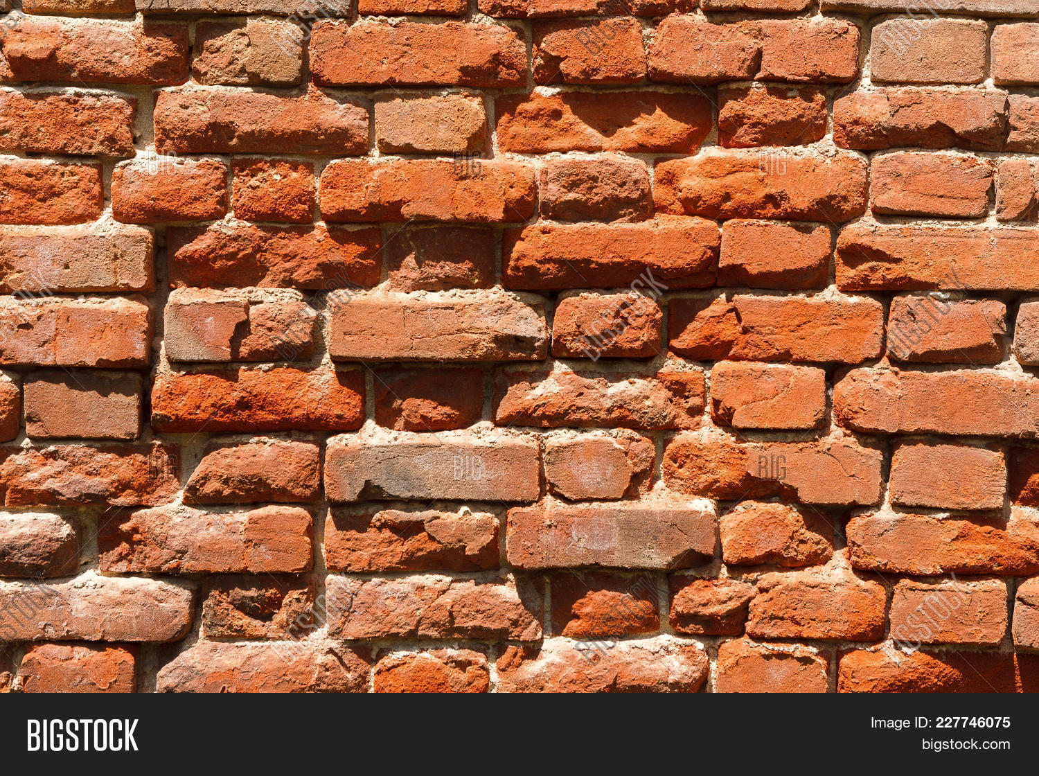 Red Rustic Brick Wall Background Modern Smooth Decorative False Bricks Texture Brickwall Stucco Su