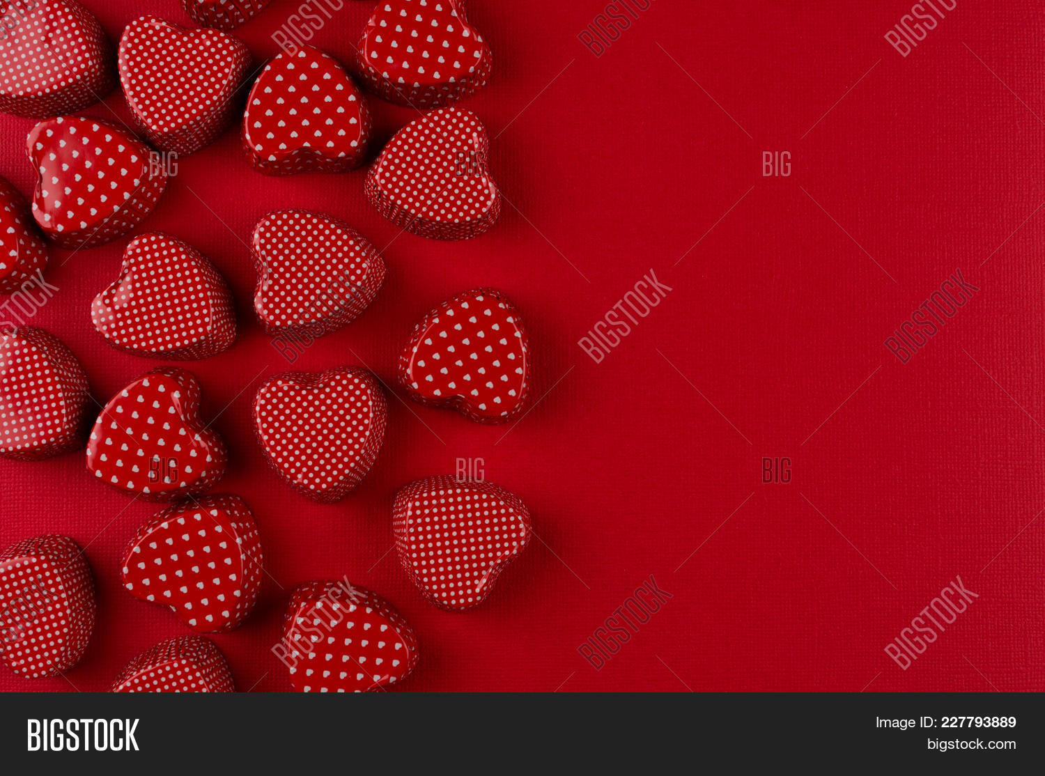 Red Hearts Candy PowerPoint Template