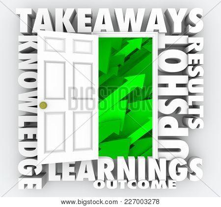 Takeaways Door Open New Information Knowledge 3d Illustration