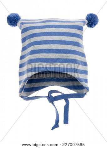 Children's winter hat isolated on a white background.