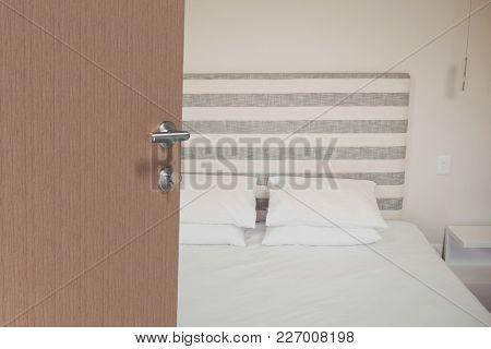 Digital composite of open doors