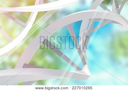 Colored background with shiny lines against trees against sky