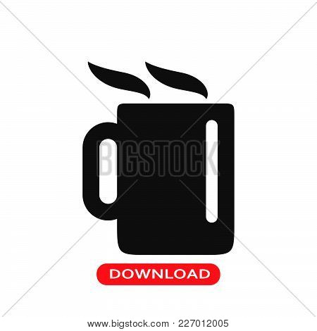 Coffee Hot Jar Icon Vector In Modern Flat Style For Web, Graphic And Mobile Design. Coffee Hot Jar I