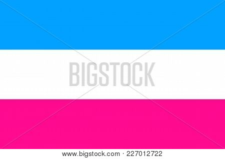 Heterosexual Emblem Movement Normal People, Flat Icon. Symbol Of Usual Sexual Orientation. Vector Il