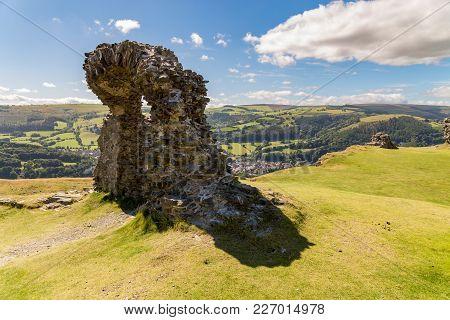 The Remains Of Castell Dinas Bran Near Llangollen, Denbighshire, Wales, Uk