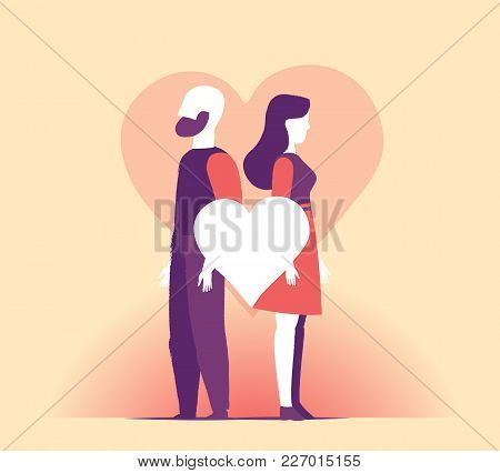 A Couple Stay Together In The Valentine Day