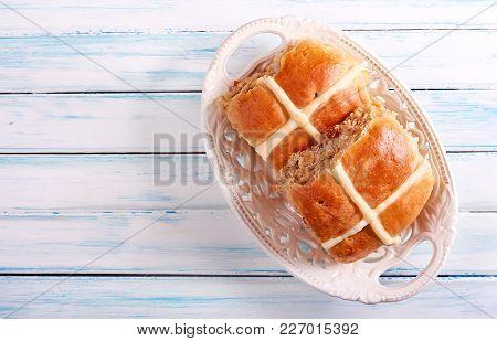 Hot Cross Buns - Easter Bake Top View