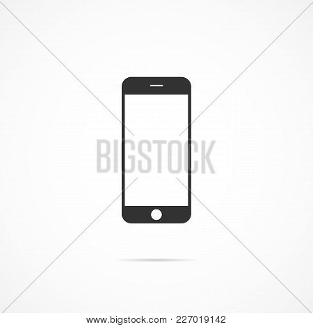 Vector Image Of Icon Mobile Phone On A Gray Background.
