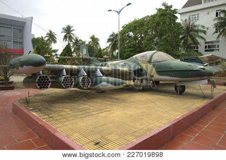 Da Nang, Vietnam - January 06, 201: Cessna A-37 Dragonfly - The American Trophy Attack Plane In The