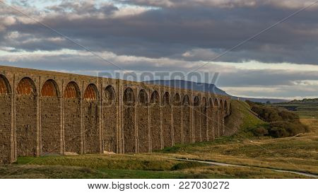 The Ribblehead Viaduct On The Settle-carlisle Railway, Near Ingleton In The Yorkshire Dales, North Y