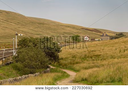 Blea Moor Railway Station Near Ribblehead Viaduct, Yorkshire Dales, North Yorkshire, Uk
