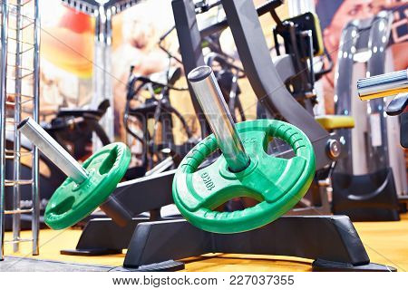 Weight Plates For Barbell In The Gym