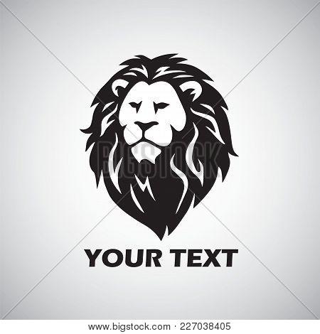 Wild Lion Vector Icon Logo Template Design