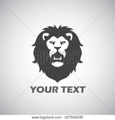 Roaring Lion Mascot Logo Vector Design Illustration
