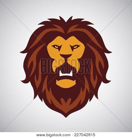 Lion Roaring Logo Design Template Mascot Icon