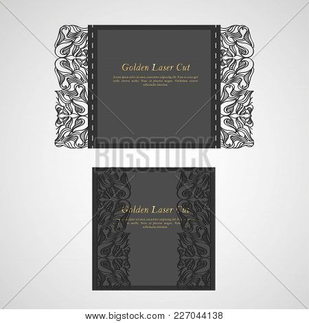 Floral Invitation Card Or Background With Antique, Luxury Beige And Gold Vintage Frame, Victorian Ba