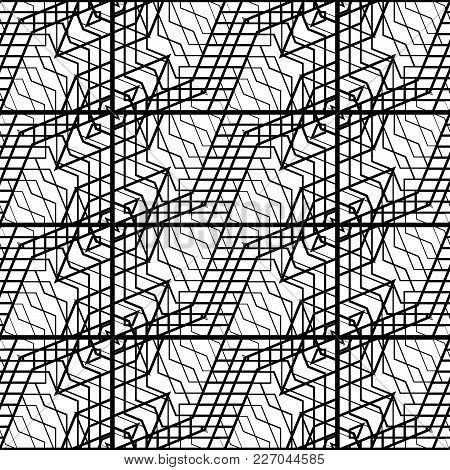 Design Seamless Monochrome Grating Pattern
