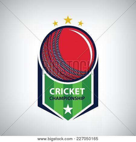 Cricket Championship Logo. Modern Sport Emblem. Vector Illustration