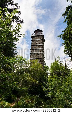 Pajndl Lookout Tower At Tisovsky Mount, Krusne Hory, Czech Republic