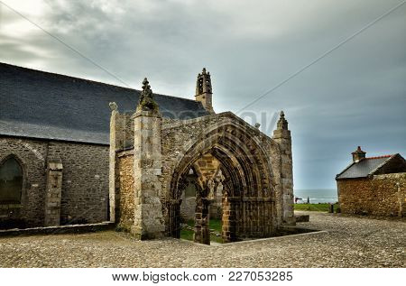 One of the most beautiful and famous destination in Brittany, France, Saint Mathieu and his Abbey