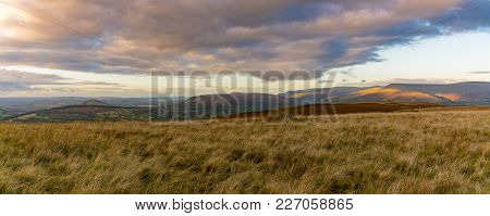 Landscape In The Brecon Beacons National Park On The B4560 Between Llangynidr And Ebbw Vale, Powys,