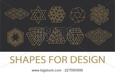 Sacred Geometry Symbols Collection. Hipster, Abstract, Alchemy, Spiritual, Mystic Elements Set. Sacr