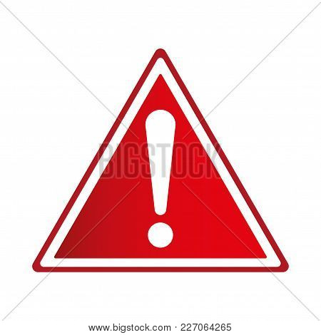 Exclamation Sign, Hazard Warning, Isolated, Caution Icon Warning Symbol, Red And White