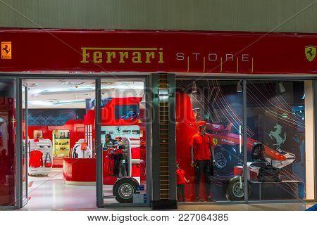 Johannesburg, South Africa - September 12, 2016: Ferrari Store At Johannesburg International Airport