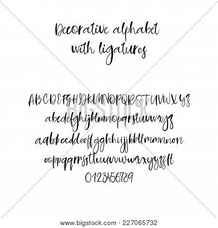 Modern Calligraphy Alphabet. Handwritten Brush Letters. Uppercase, Lowercase. Hand Lettering Font Fo