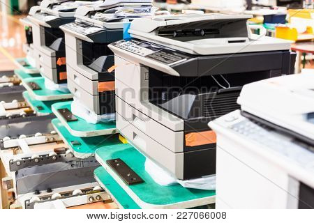 Several New Assembled Copiers In Line In Factory