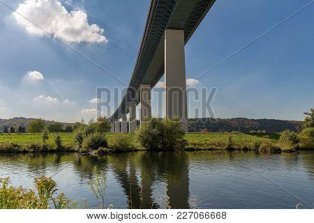 Ruhrtalbruecke (ruhr Valley Viaduct) With The River Ruhr, Near Muelheim, Ruhr Area, North Rhine-west