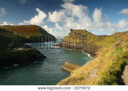 Boscastle A Natural Harbour On The Rugged North Cornwall Coast