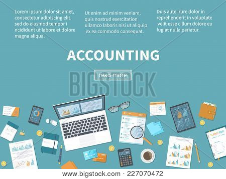 Accounting Concept. Financial Analysis, Planning, Analytics, Statistics, Data Analysis, Research. Do