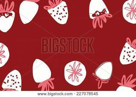 Strawberry Hand Drawn Color Illustration For Your Design,