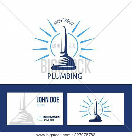 Vector Logo Of Repair Service In Simple Style. Can Be Used For Banners, Brochures
