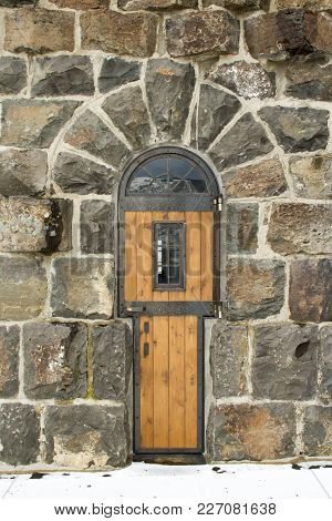 Wooden Door In Roosevelt Gate, Yellowstone National Park