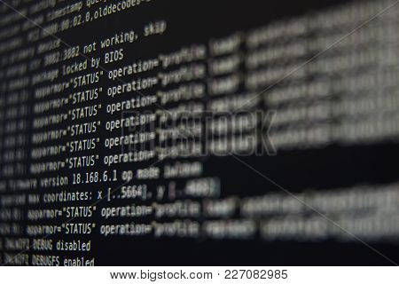 System Log On Screen