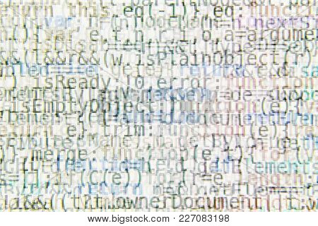 Bright Program Code Abstract Background