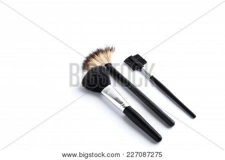 Duo Fibre Foundation Makeup Brush. Isolated. White Background