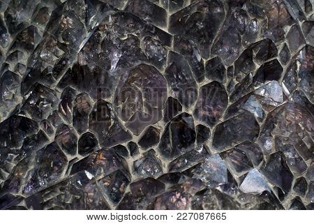 Background, Texture - Druse Of Large Natural Untreated Amethyst Crystals